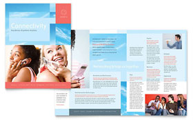 Communications Company - Microsoft Word Brochure Template