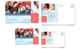 Communications Company - Postcard Template Design Sample