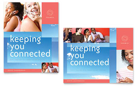 Communications Company - Poster Template Design Sample