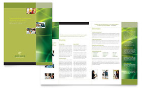 Internet Marketing - Brochure Template Design Sample