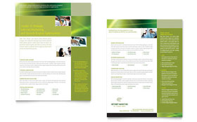 Internet Marketing - Datasheet Template Design Sample
