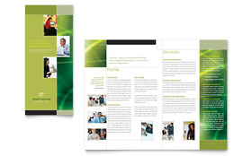 Internet Marketing - Tri Fold Brochure Template Design Sample