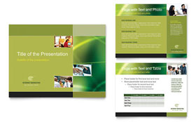 Internet Marketing - PowerPoint Presentation Template Design Sample