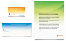 Computer & IT Services - Business Card & Letterhead Template