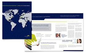 Global Communications Company - Adobe InDesign Brochure Template