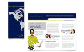 Global Communications Company - Microsoft Word Brochure Template