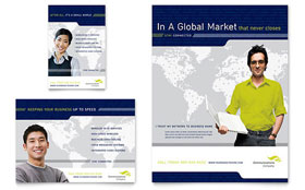 Global Communications Company - Leaflet Template
