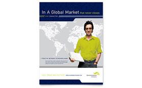 Global Communications Company - Leaflet Sample Template