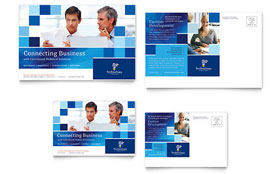 Technology Consulting & IT - Postcard Template Design Sample
