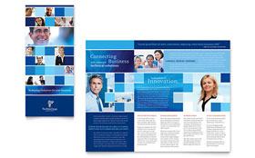 Technology Consulting & IT - Tri Fold Brochure Template Design Sample