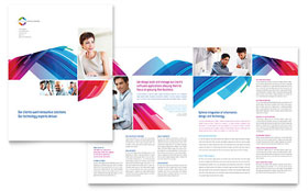 Software Solutions - Brochure Template Design Sample
