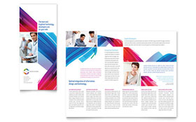 Software Solutions - Tri Fold Brochure Template