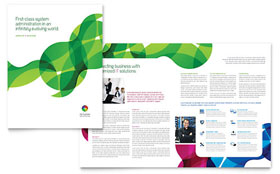 Network Administration - Brochure - QuarkXPress Template Design Sample