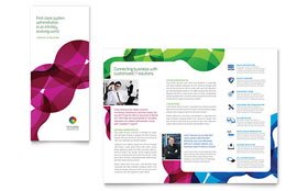 Network Administration - Tri Fold Brochure - Adobe InDesign Template Design Sample