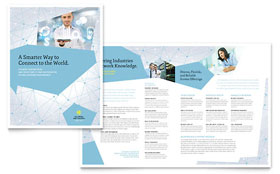 Global Network Services - Business Marketing Brochure Template