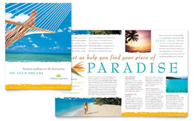 Travel Agency - Brochure Template Design Sample
