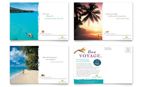 Travel Agency - Postcard Template Design Sample