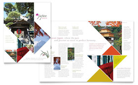Japan Travel - Microsoft Publisher Brochure Template