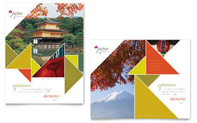 Japan Travel - Poster Template Design Sample