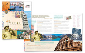 Italy Travel - Graphic Design Brochure Template