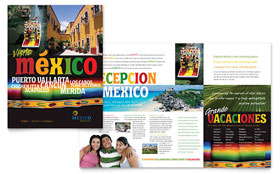 Mexico Travel - Microsoft Word Brochure Template
