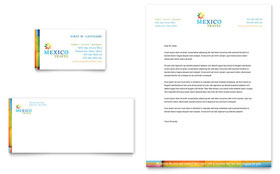 Mexico Travel - Business Card & Letterhead Template Design Sample