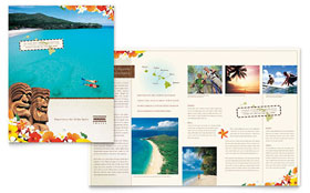 Hawaii Travel Vacation - Adobe Illustrator Brochure Template