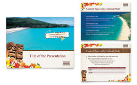 Hawaii Travel Vacation - Microsoft PowerPoint Template