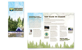 Nature Camping & Hiking - Graphic Design Brochure Template