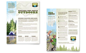 Nature Camping & Hiking - Datasheet Template Design Sample