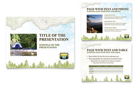 Nature Camping & Hiking - PowerPoint Presentation Template Design Sample