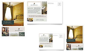 Bed & Breakfast Motel - Postcard Template Design Sample