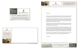 Bed & Breakfast Motel - Business Card & Letterhead Template Design Sample