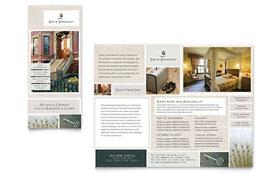 Bed & Breakfast Motel - Graphic Design Tri Fold Brochure Template