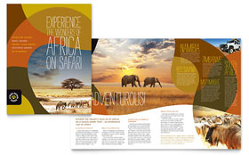 African Safari - Adobe Illustrator Brochure Template