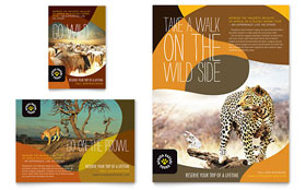 African Safari - Flyer & Ad Template Design Sample