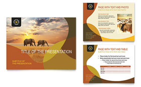 African Safari - Microsoft PowerPoint Template Design Sample