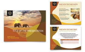 African Safari - PowerPoint Presentation Sample Template