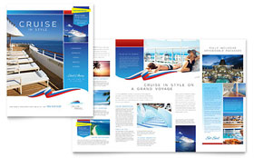 Cruise Travel - Pamphlet Template Design Sample