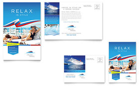 Cruise Travel - Postcard Template Design Sample