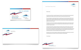 Cruise Travel - Letterhead Template Design Sample