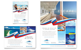 Cruise Travel - Flyer Template Design Sample