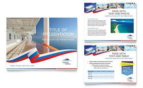 Cruise Travel - Microsoft PowerPoint Template Design Sample