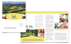 Golf Resort - Apple iWork Pages Brochure Template