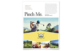 Golf Resort - Flyer Template