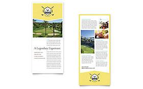 Golf Resort - Rack Card Template