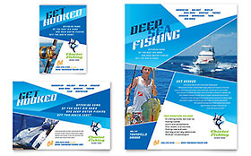 Fishing Charter & Guide - Flyer & Ad Template