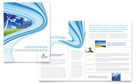 Renewable Energy Consulting - Apple iWork Pages Brochure Template