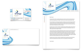 Renewable Energy Consulting - Business Card & Letterhead Template