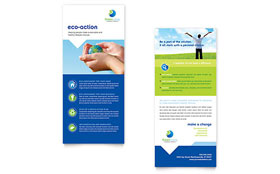 Green Living & Recycling - Rack Card Template